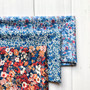 LIBERTY FLOWER THORPE Bundle, 3 Fabrics - Fat Eight or Fat Quarter, 13 x 19 in OR  27 x 19 in (35x49cm OR 70x49cm) - LIBERTY OF LONDON, ELEGANTE VIRGULE