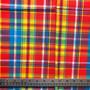 ACEROLA Madras 100% cotton, Width 60 inches (150 cm), Per Half-Meter, CANADIAN SHOP.  Elegante Virgule Canada