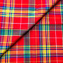 RED-GREEN PEPPER Madras 100% cotton, Width 60 inches (150 cm), Per Half-Meter, CANADIAN SHOP.  Elegante Virgule Canada