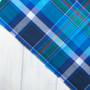 BLUEBERRY B Madras 100% cotton, Width 60 inches (150 cm), Per Half-Meter, CANADIAN SHOP.  Elegante Virgule Canada