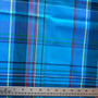 BLUEBERRY A Madras 100% cotton, Width 60 inches (150 cm), Per Half-Meter, CANADIAN SHOP.  Elegante Virgule Canada