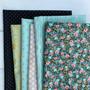 DARK GARDEN, Bundle of 6 Fabrics - FQ or Half-Meter, Elegante Virgule, Canadian Fabric Online Shop