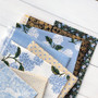 BLUE GARDEN,  RIFLE PAPER CO x TILDA - Bundle of 8 Fabrics - FQ or Half-Meter, Elegante Virgule, Canadian Fabric Online Shop
