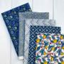LIBERTY Bundle of 5 Fabrics, SUMMER HOUSE Yellow, LIBERTY OF LONDON, ELEGANTE VIRGULE CANADA, Quilting Cotton, Canada Quilt Shop