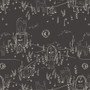 AGF ART GALLERY FABRIC - SPOOKY 'N SWEET, Purranormal Activity - by the half-meter, ELEGANTE VIRGULE, Canadian Fabric Shop