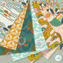 CLOUD 9, GOOD VIBRATIONS - Groovescape,  100% ORGANIC Cotton - by the half-meter, ELEGANTE VIRGULE, CANADIAN FABRIC SHOP