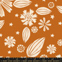 RUBY STAR SOCIETY, Golden Hour ZINNIA in Saddle - ELEGANTE VIRGULE, CANADIAN FABRIC SHOP