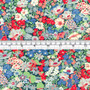 LIBERTY OF LONDON - THORPE K Red and Blue 100% Cotton Tana Lawn, Per Half-Meter, CANADIAN SHOP. LIBERTY IN CANADA, Elegante Virgule