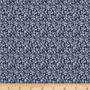 LIBERTY OF LONDON - PEPPER R Blue 100% Cotton Tana Lawn, Per Half-Meter, CANADIAN SHOP. LIBERTY IN CANADA, Elegante Virgule, Quilting Cotton