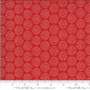 MODA SWEETWATER Animal Crackers, DOTS in Apple Red - 100% BRUSHED COTTON  - ELEGANTE VIRGULE CANADA, CANADIAN FABRIC SHOP, Quilting Cotton