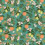 RIFLE PAPER CO, PRIMAVERA Citrus Floral in Teal,  ELEGANTE VIRGULE CANADA, CANADIAN FABRIC SHOP, QUILTING COTTON