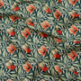 LIBERTY OF LONDON Quilting cotton, Harriet's Pansy Z in Green and Orange - ELEGANTE VIRGULE CANADA, Canadian Quilt Shop, Quilting cotton