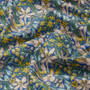LIBERTY OF LONDON - FLOWER SHOW, Quilting cotton, Adlington Hall  A in Blue, Yellow and Pink - ELEGANTE VIRGULE CANADA, Canadian Quilt Shop, Quilting cotton