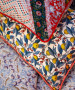 LIBERTY OF LONDON, Topiary Chevron Y in Orange, Red and Green - by the half-meter, ELEGANTE VIRGULE CANADA, Canadian Fabric Shop, Quilting Cotton