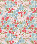 LIBERTY OF LONDON - POPPY AND DAISY A Blue Green Pink Red 100% Cotton Tana Lawn, Per Half-Meter, CANADIAN SHOP. LIBERTY IN CANADA, Elegante Virgule