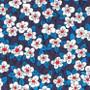 LIBERTY OF LONDON - FFION A Blue 100% Cotton Tana Lawn, Per Half-Meter, CANADIAN SHOP. LIBERTY IN CANADA, Elegante Virgule