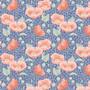 TILDA GARDENLIFE, Poppies in Blue - Elegante Virgule Canada, Quilting Cotton
