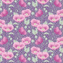 TILDA GARDENLIFE, Poppies in Lilac - Elegante Virgule Canada, Quilting Cotton