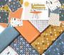 CLOUD 9, LISBON SQUARE - Sparks in Orange - 100% ORGANIC Cotton - by the half-meter, ELEGANTE VIRGULE, CANADIAN FABRIC SHOP, QUILTING COTTON