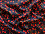 LIBERTY OF LONDON - ROS W Red on Navy, 100% Cotton Tana Lawn, Per Half-Meter, CANADIAN SHOP. LIBERTY IN CANADA, Elegante Virgule