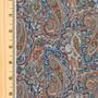LIBERTY OF LONDON - TESSA Orange and Blue 100% Cotton Tana Lawn, Per Half-Meter, CANADIAN SHOP. LIBERTY IN CANADA, Elegante Virgule