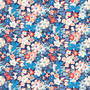 LIBERTY FABRICS, CARNABY COLLECTION Retro Indigo - Westbourne Posy A Blue Red - by the half-meter - ELEGANTE VIRGULE CANADA, Canadian Quilting Shop - Liberty of London, Quilting Cotton