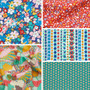 LIBERTY FABRICS, CARNABY COLLECTION Bohemian Brights - FQ Bundle of 5 fabrics - ELEGANTE VIRGULE CANADA, Canadian Quilting Shop - Liberty of London, Quilting Cotton