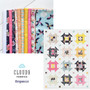 """CHURN BUTTER COOKIE Quilt in Cloud 9 Organic - Quilt Kit 57"""" x 64"""" (145 x 163 cm) -  ELEGANTE VIRGULE CANADA, CANADIAN FABRIC SHOP, Quilting Cotton"""