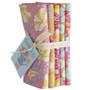 TILDA GARDENLIFE, Mustard / Pink, FE Bundle of 5 fabrics  - Elegante Virgule Canada, Quilting Cotton, Canadian Quilt Fabric Shop