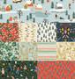 RIFLE PAPER CO, Holiday Classics, FQ Bundle of 11 fabrics  -  ELEGANTE VIRGULE CANADA, CANADIAN FABRIC QUILT SHOP, Quilting Cotton
