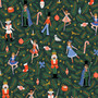 RIFLE PAPER CO HOLIDAY CLASSICS, Nutcracker in Evergreen Metallic - by the half-meter - by the half-meter - Elegante Virgule Canada, Canadian Fabric Quilt Shop, Quilting Cotton