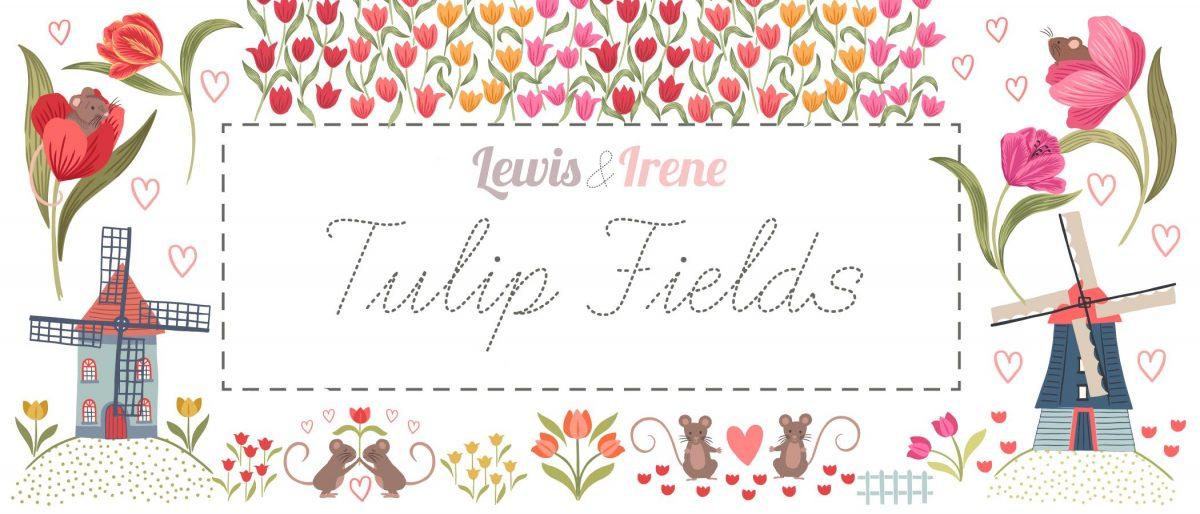 Tulip Fields by LEWIS & IRENE FABRICS - Canada Elegante Virgule Fabric Shop, QUILTING COTTON, Magasin de tissus
