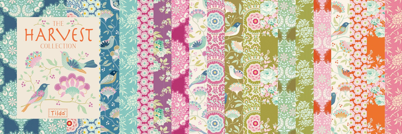 TILDA HARVEST collection, Elegante Virgule Canada, Canadian Quilt Fabric Shop, Quilting Cotton
