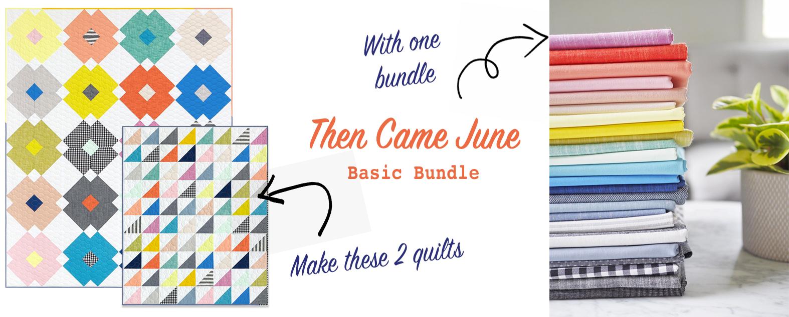 THEN CAME JUNE Palette Picks FQ bundle of 24 fabrics