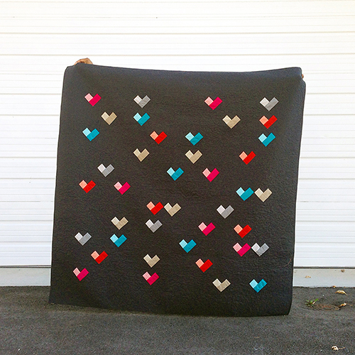 Cloud 9 Cirrus Solids - DIGITAL HEARTS QUILT Free Pattern