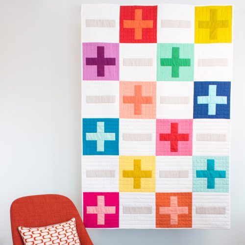 Cloud 9 Cirrus Solids - Plus and Minus Quilt, Free Pattern