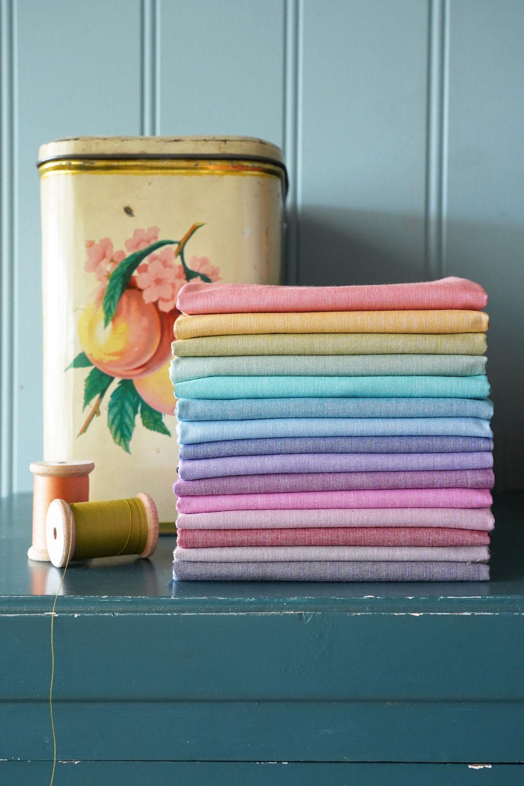 TILDA Solids Basics Chambray - ELEGANTE VIRGULE CANADA, Quilting Cotton Fabrics