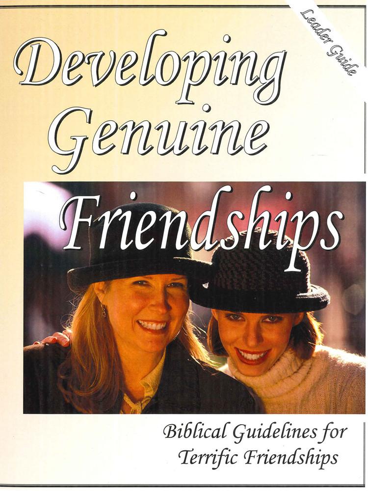 Developing Genuine Friendships - Leader Guide