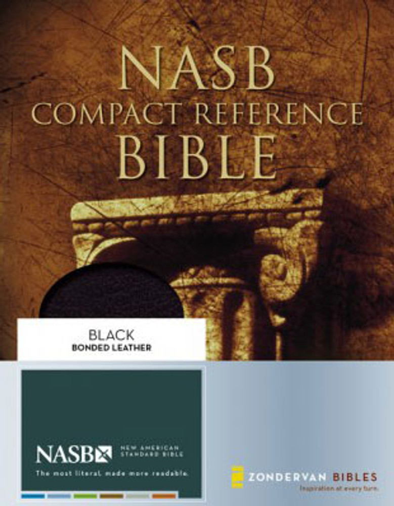 NASB Compact Reference Bible - Black Bonded Leather