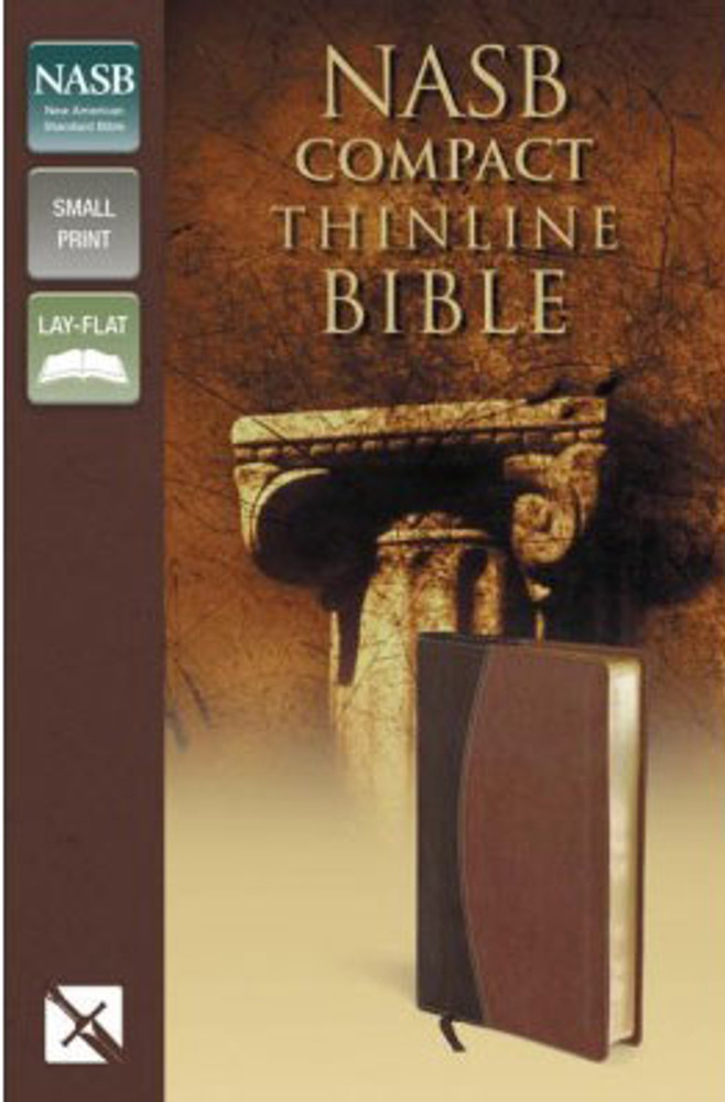 NASB Thinline Compact Bible - Mahogany/Chocolate