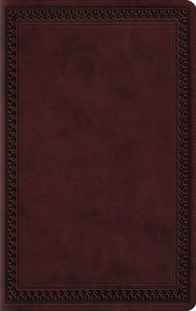 ESV Large Print Value Thinline Bible (Trutone Mahogany, Border)