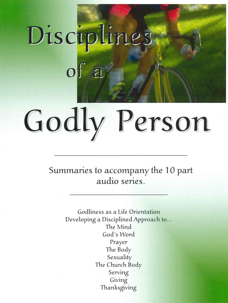 Disciplines of a Godly Person Downloadable PDF