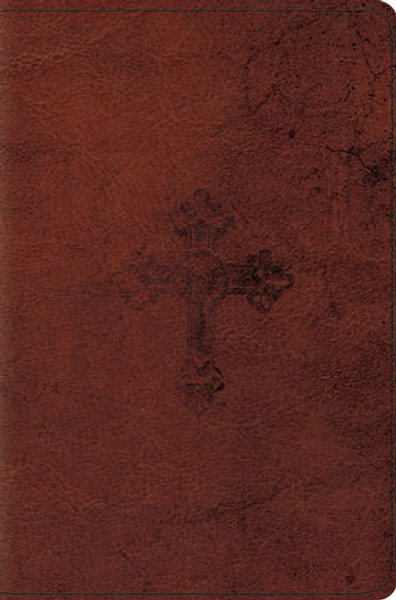 ESV Compact Bible  (TruTone, Walnut, Weathered Cross)