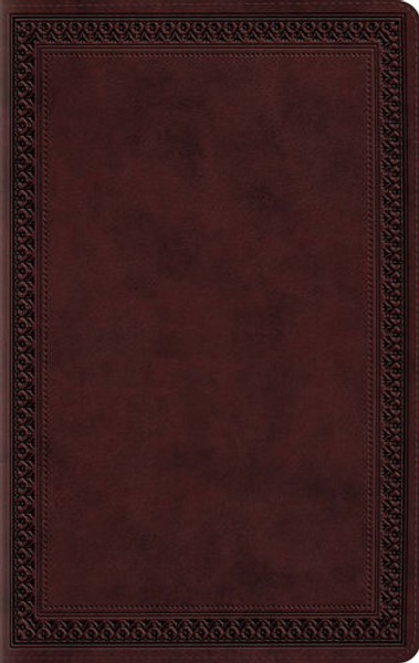 ESV Large Print Value Thinline Bible (Trutone Mahogany, Border)