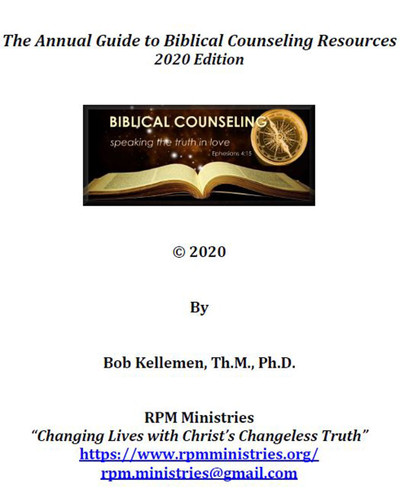 Annual Guide to Biblical Counseling Resources 2020 Edition