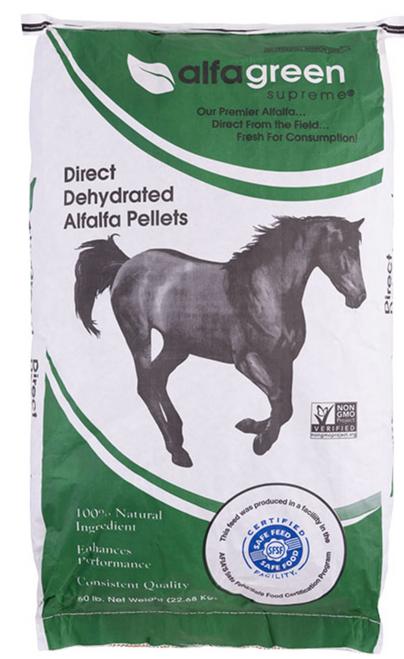Alfalfa Pellets: NON-GMO Dehydrated