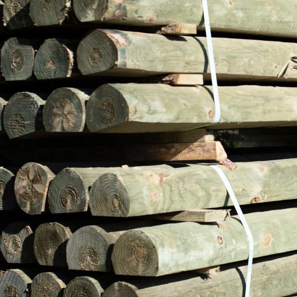 6x7.5 treated round wood slab