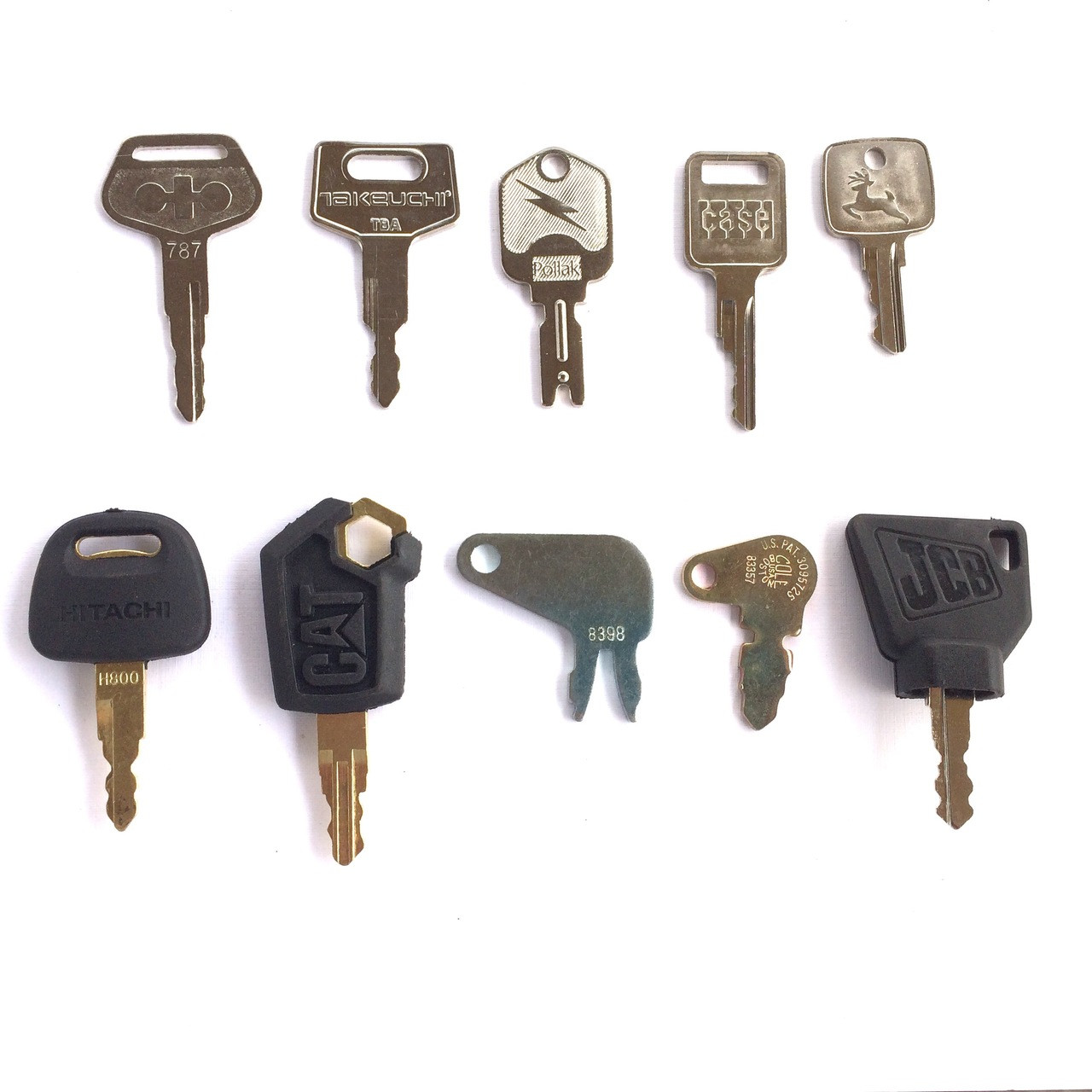 10 Piece OEM Heavy equipment key set