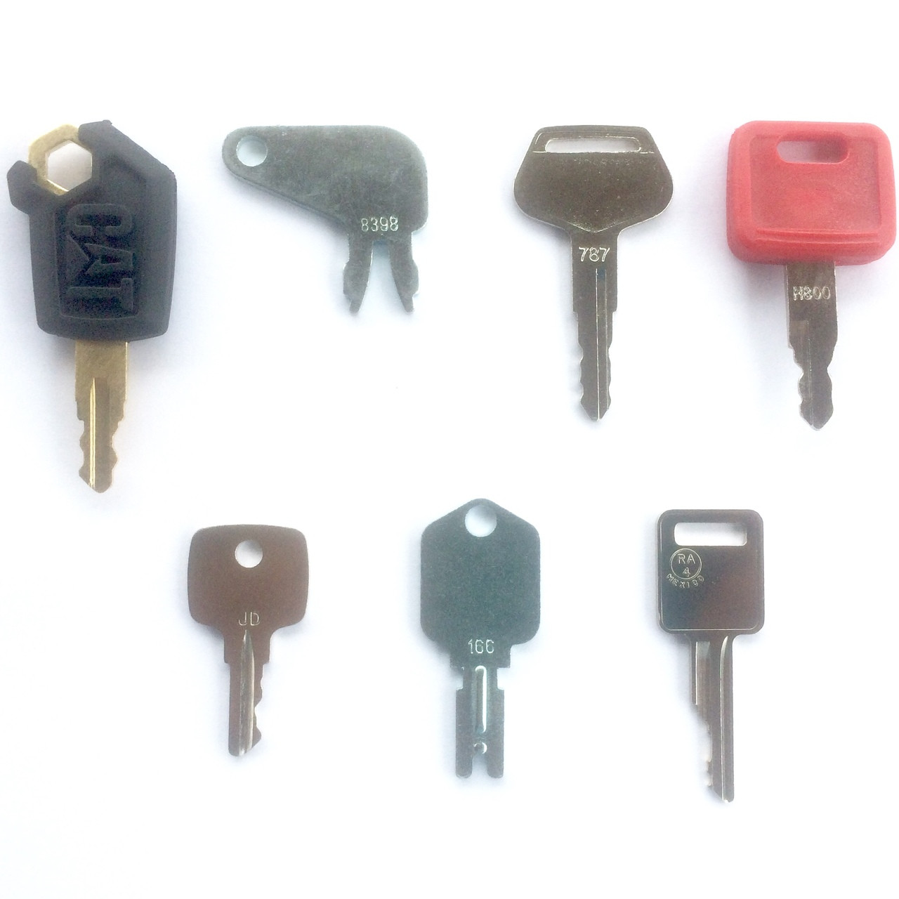Heavy equipment key set
