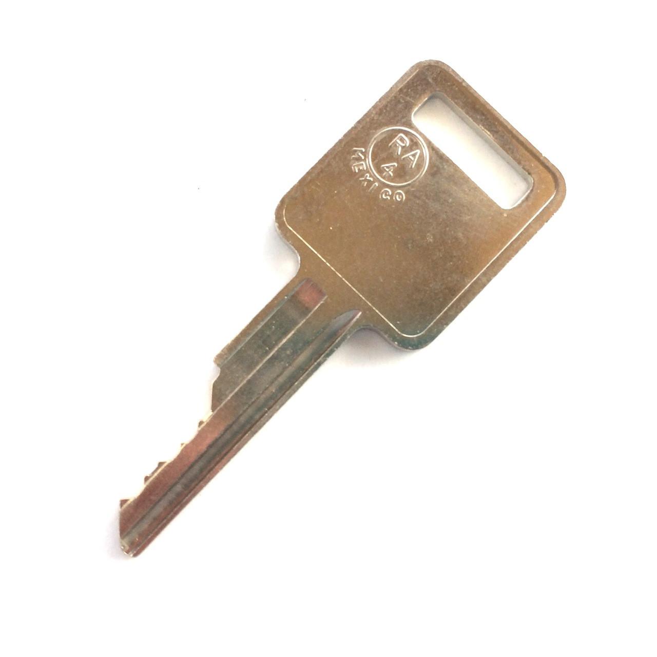 Bobcat Leather//Metal Keyring Bobcat digger